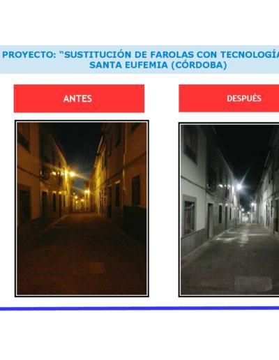 """PROYECTO  """"SUSTITUCIÓN DE FAROLAS CON TECNOLOGÍA LED""""."""