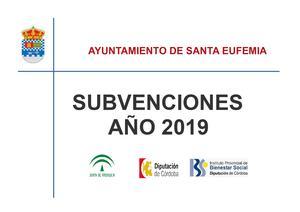 Subvenciones 2019